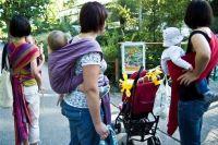 Warsztaty nauki wiązania chust, noszenia dzieci